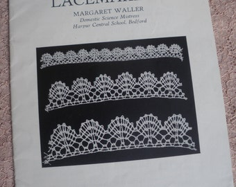 Lacemaking - Vintage Dryad Leaflet No. 142 - needlecraft - lace making - antique lace - antique textiles - vintage lacemaking book booklet