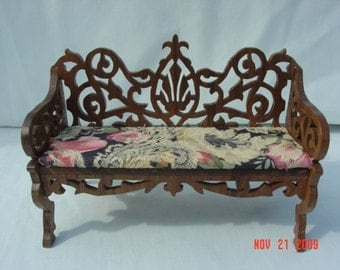 victorian doll house settee