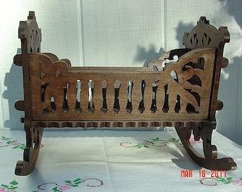 vintage replica doll cradle