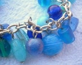 Blue Cluster Bracelet