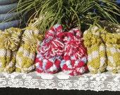 Blackberry Bear Knitted Slippers For Julie