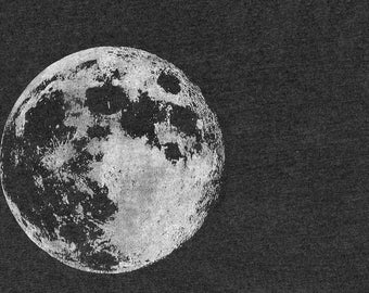 Free Luna - Moon Print - Digitally Altered Screenprint Postcard