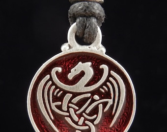 Celtic Dragon Pendant | Celtic Jewelry | Irish Jewelry | Scottish Jewelry | Handcrafted Jewelry | Fine Pewter by Treasure Cast