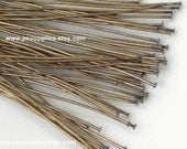 2 Inch 24 Gauge Headpin, Antique Gold