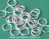 6mm 20 Gauge Jumpring Silver Plated Round
