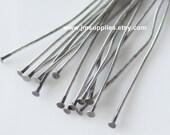 2 Inch 24 Gauge Headpin, Antiqued Silver