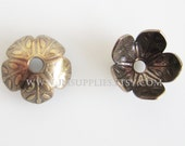 Bead Cap Antique Brass Flower  9x4mm