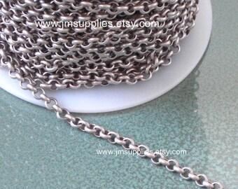 Antiqued Silver Rollo Chain CH350AS