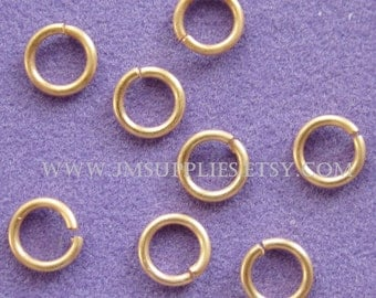 Jumpring, Matte Gold 6mm Round, 21 Gauge