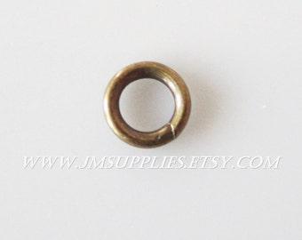4mm, 20 Gauge Jumpring, Antiqued Gold