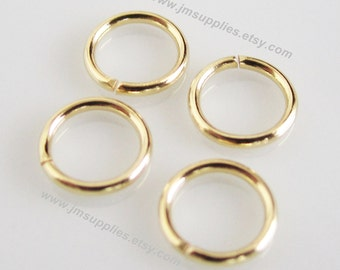 6mm, 20 Gauge Jumpring, Gold-Plated Round
