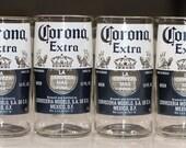 YAVA Glass - Recycled Corona Extra Beer Bottle Glasses (Set of 4)