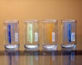 YAVA Glass - Upcycled Dry Soda Bottle Glasses (Variety Set of 4)