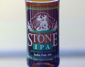 YAVA Glass - Recycled Stone IPA 8 oz. Beer Bottle Glass