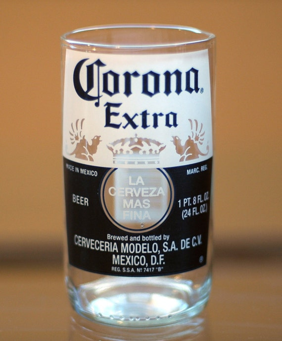 Yava glass large corona extra 18 fl oz beer bottle glass for How to make corona glasses