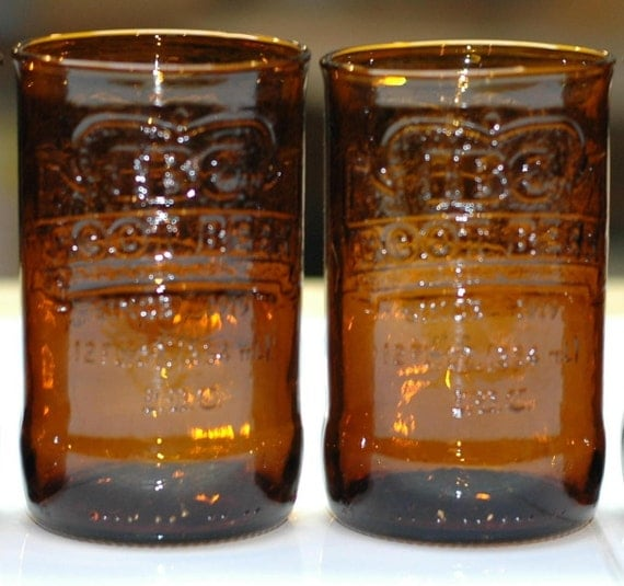 YAVA Glass - Recycled IBC Root Beer Glasses (Set of 2)