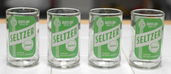 YAVA Glass - Boylans Lemon Seltzer Glasses (Set of 4)