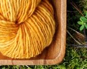 Pumpkin - 200 yards BFL handspun yarn