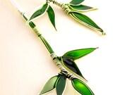 Bamboo Stem Silver Earrings