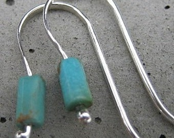 Simple Tiny Turquoise Earrings