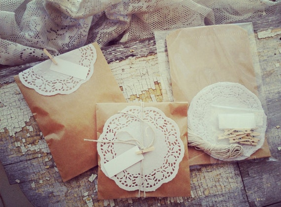 French Wedding Gifts: WEDDING FAVOR Escort Cards Kraft Bags By 5dollarfrenchmarket