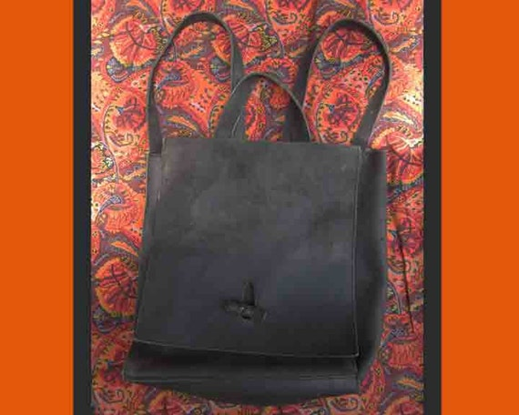 So Simple,So Stylish,Dark Brown Matte Suede Backpack,Italy