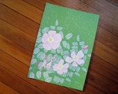 the native woodland rose poster