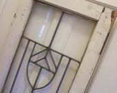 RESERVED - Vintage Window - Beveled Leaded Glass - Antique Shabby French Cottage Farmhouse
