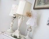 RESERVED - Vintage Urn Lamp - Shabby French Cottage - Art Nouveau