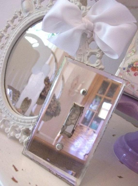 Vintage Mirror Light Switch Plate Cover Art Deco Retro