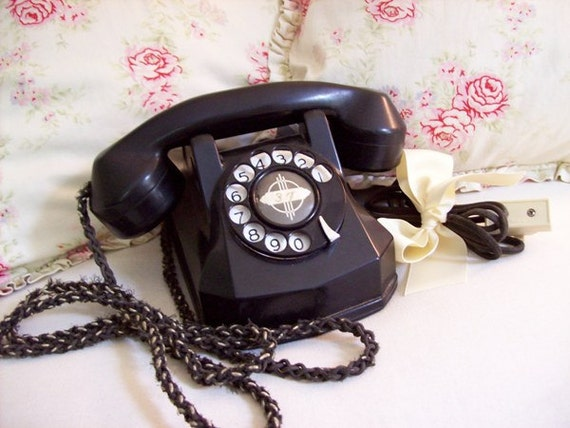 RESERVED FOR NEWLYHATCHED - Antique Bakelite Hotel Phone 1930s - 1940s Art Deco
