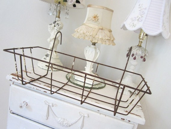 Vintage Metal Basket - Planter - Window Box Planter
