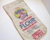 Vintage Flour Sack Quaker Oats Company of Canada