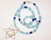 Wintery Nights and Star Shines Necklace and Earrings set