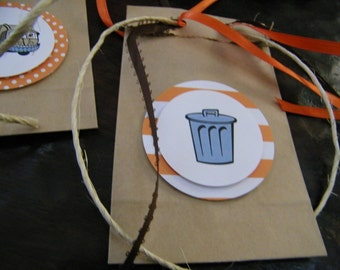 I Stink: Garbage Party Mini Favor Bags...Set of 10 Favor Bags