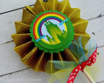 Wizard of Oz Emerald City Centerpiece Pinwheel...Set of 1 Emerald City Pinwheel