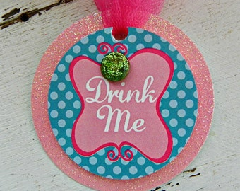 Garden Tea Party Drink Me Tags...Set of 12 Favor Tags