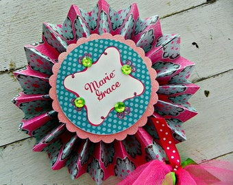 Garden Tea Party Personalized Centerpiece Pinwheel...Set of 1 Pinwheel