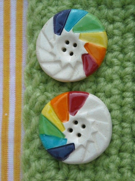 Spectrum Rainbow Buttons 2