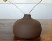 Dent Bud Vase in Espresso Stoneware