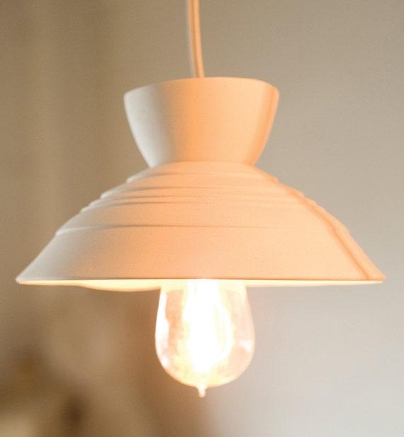 RESERVED Oval Pleated Pendant Lightshade