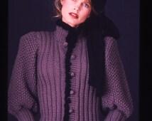 BASIA DESIGNS Original Purple Pouf Cardigan Now In Four Colors