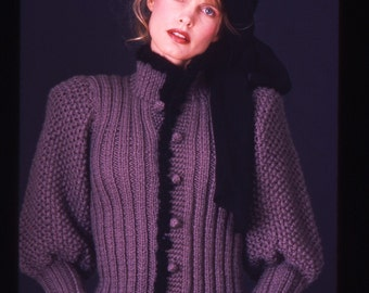 BASIA DESIGNS Original Purple Pouf Cardigan Now In Four Colors - Free US Shipping