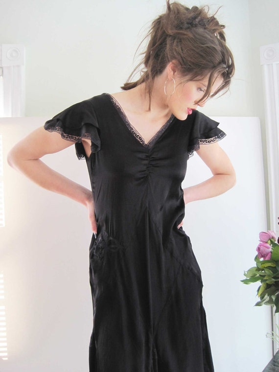 Vintage Overdyed Silk and Lace Dress reworked from Basia's Private Collection