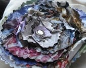 RECYCLED Pin/Brooch - Paper-Purple, Magenta, Green, Blue, Brown and Lavender