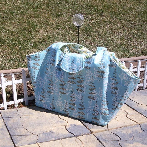 One of a kind large diaper bag or overnight bag. Lots of pockets.