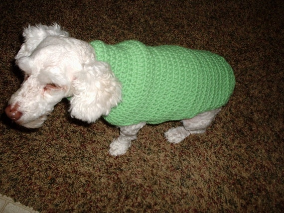 Free Crochet Patterns For Dogs Coats : Crochet Dog Sweater-coat beginners Pattern free shipping.