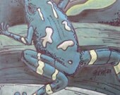 frog chalk drawing . . .