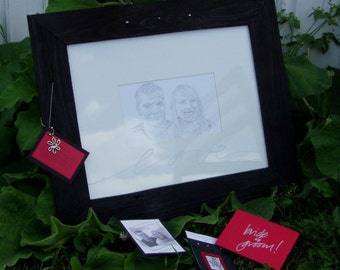 themed wedding portrait gift . . .