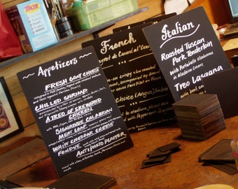 hand lettered mini chalkboards . . .